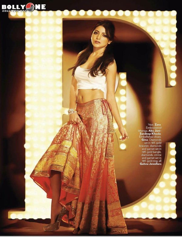Anushka Sharma Sizzles on Vogue Magazine October 2012 HQ Pictures