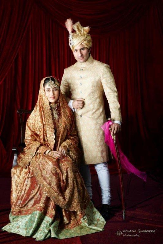 Kareena et Saif pour leurs mariage