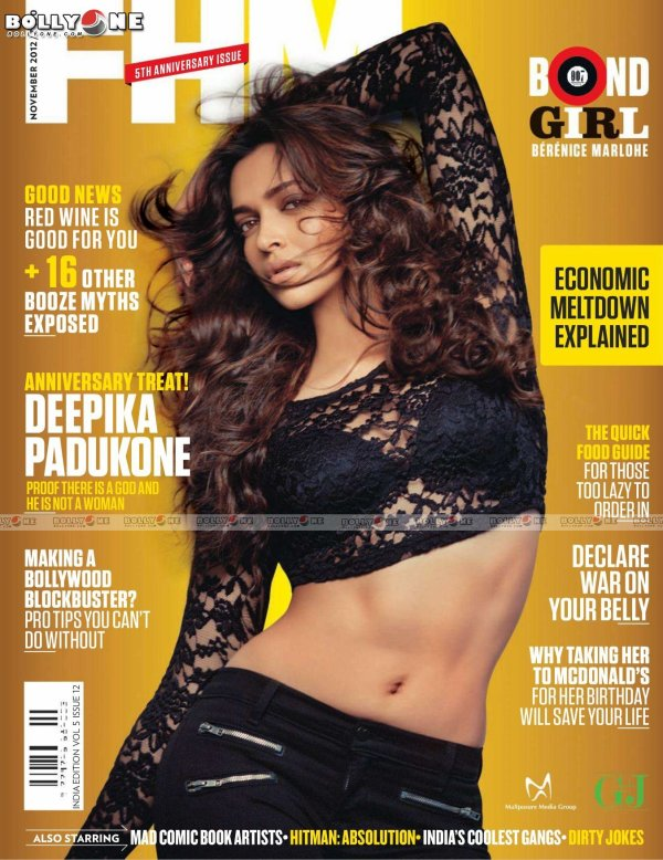 Deepika Padukone FHM India Magazine November 2012 HQ Pictures