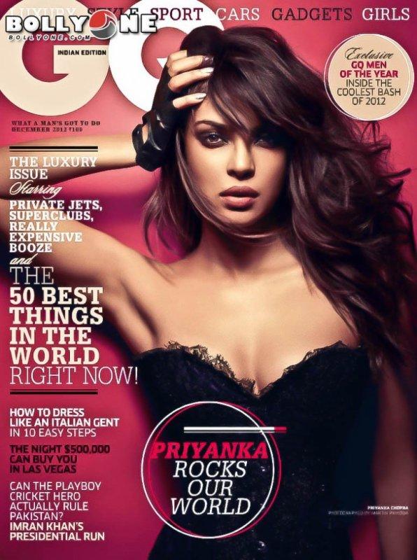 Priyanka Chopra on The Cover of GQ India Magazine – December 2012