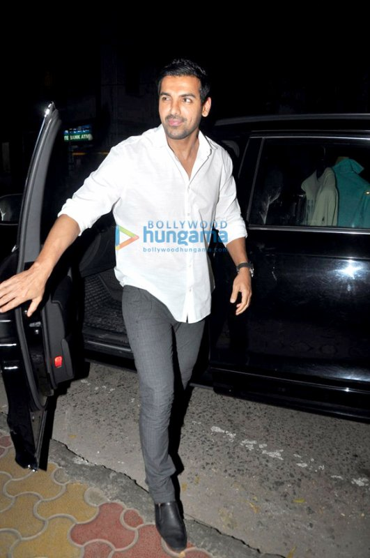 John goes on a dinner date for 'I, Me Aur Main' promotions