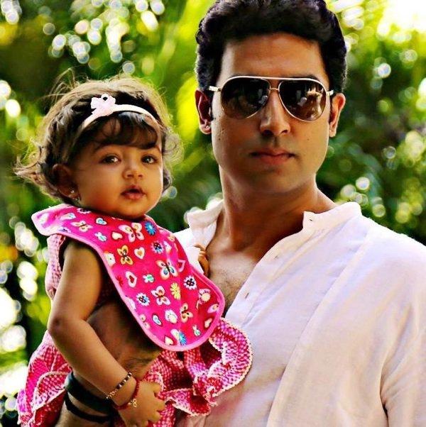 Abhishek et sa fille