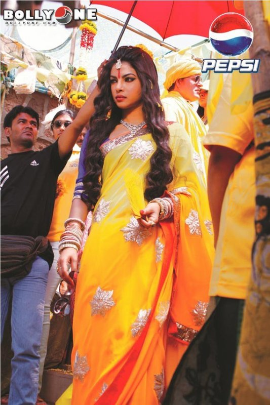 Priyanka Chopra Spiritual Look For New Pepsi Ad