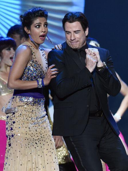 John Travolta Shakes a Leg With Priyanka Chopra at IIFA Awards 2014