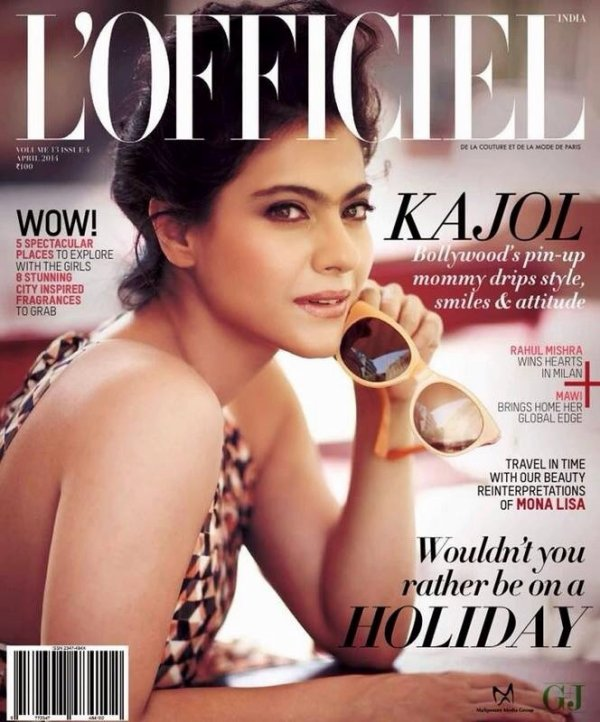 Kajol en couverture de magazine