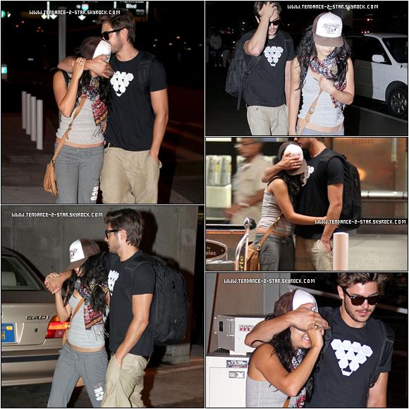 Sur les images nous pouvions voir le couple juste à côté de l'aéroport de LA ils sont enfin arrivée . Et les vacances c'est fini , comme nous . Nous nous sentons moins seul maintenant  ;).