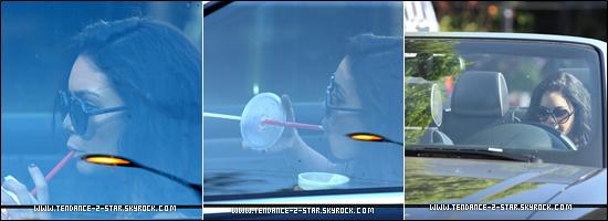 La star de Sucker Punch s'est rendue dans une épicerie de Studio City (31 août). Et puis dans la même journée Vanessa a été vue (31 août) portant des lunettes de soleil, sirotant un milkshake, le tout dans sa voiture décapotable à Los Angeles, le rêve.