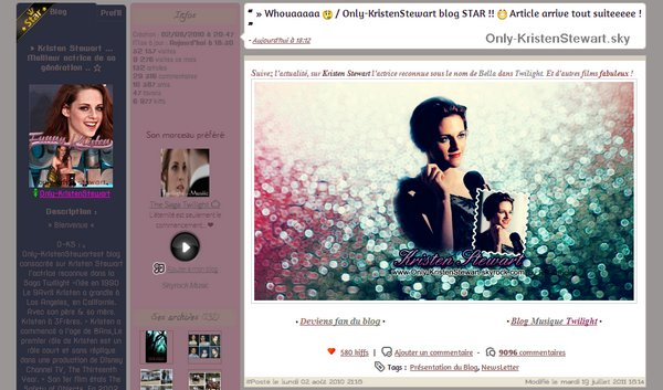 19.07.2011 - Only-KristenStewart BLOG STAR !