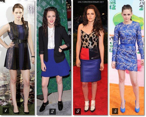 Plusieurs robes bleu, mais laquelle est la mieux ? A vous de votez.