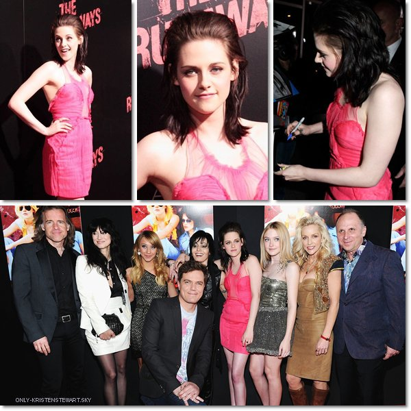 Flashback - Avant première  The Runaways  à Los Angeles (2010) :