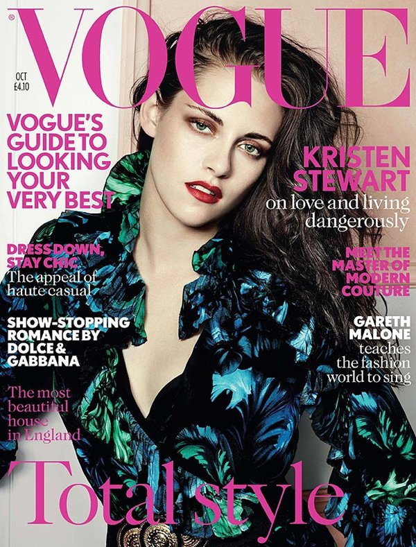 Kristen pose pour le magazine VOGUE (uk) Octobre 2012 / J'aime la couverture !