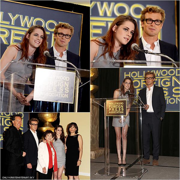 01.11.12 : Kristen et Simon Baker étaient à l'annonce du lauréat du prix Cecil B. DeMille.