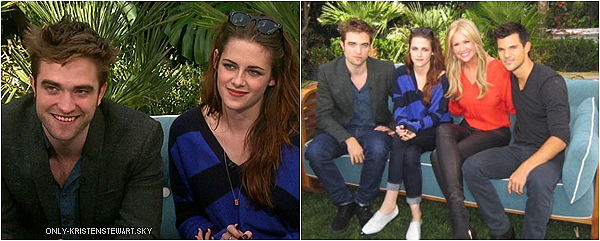 01.11.12 : Les Interviews pour Breaking Dawn Part 2 (avec Kristen, Robert et Taylor) à Los Angeles.