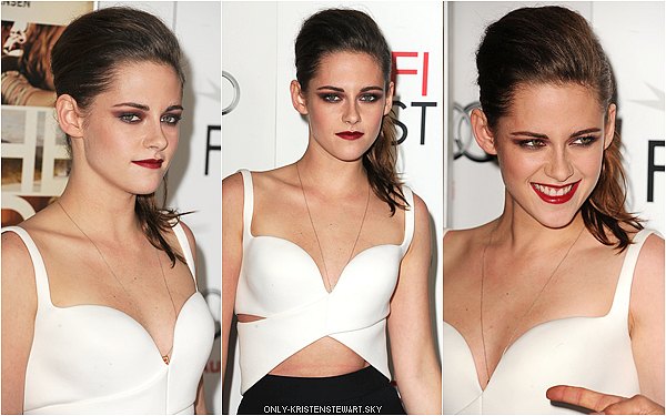 03.11.12 : Kristen à l'avant première de On The Road à Los Angeles. Tenue Balenciaga, c'est son style  un TOP!