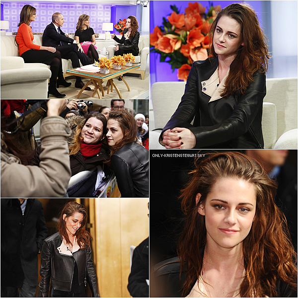 07.11.12 : Kristen était au Live With Kelly and Michael et au Today Show à New York.