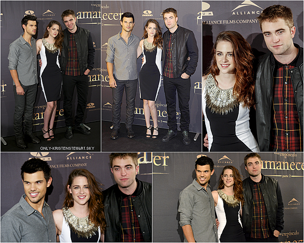 15.11.12 : La promo continue avec le trio à Madrid, (conférence de presse + avant première).
