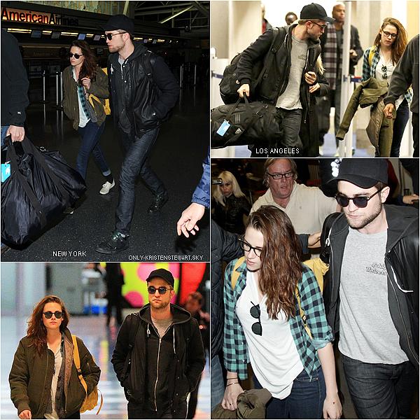 26.11.12 : Kristen et son son petit ami Robert, étaient de retour à Los Angeles + Vidéo coup coeur :