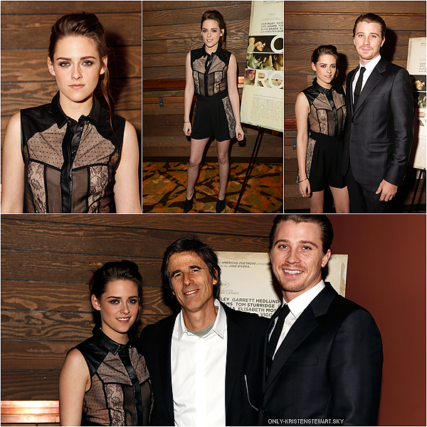 06.12.12 : Kristen, Garrett Hedlund et Walter Salles à la projection privée de On The Road à L.A :