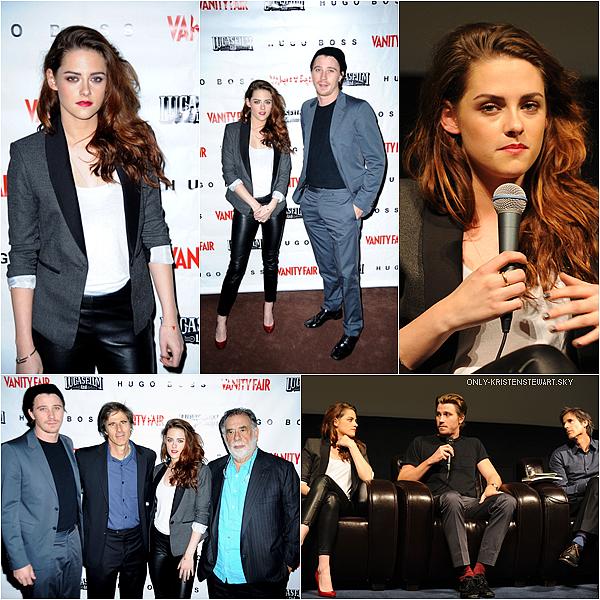 07.12.12 : Kristen au Screening et Q&A à Skywalker Ranch pour On The Road  avec Garrett et Walter :