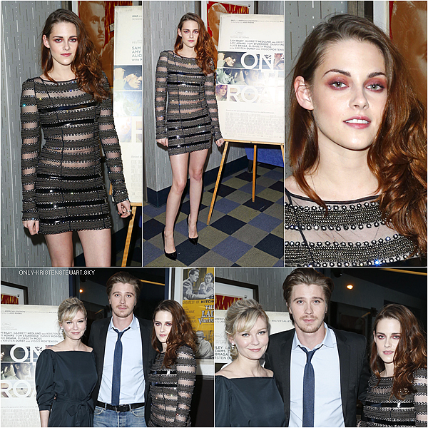 12.12.12 : Kristen était à Sandy Benefit Concert + Projection de On the Road à New York :