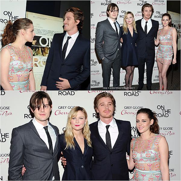 13.12.12 : Kristen, Garrett, Sam et Kirsten étaient présents pour l'avant première de OTR à New York :