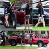 26.12.12 : Kristen a été aperçue dans Los Angeles avec son frère Cameron et son père John.