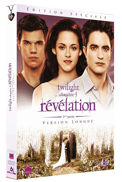 Le DVD Breaking Dawn Part 1 en version plus longue sortira le 8 Février prochain en France :