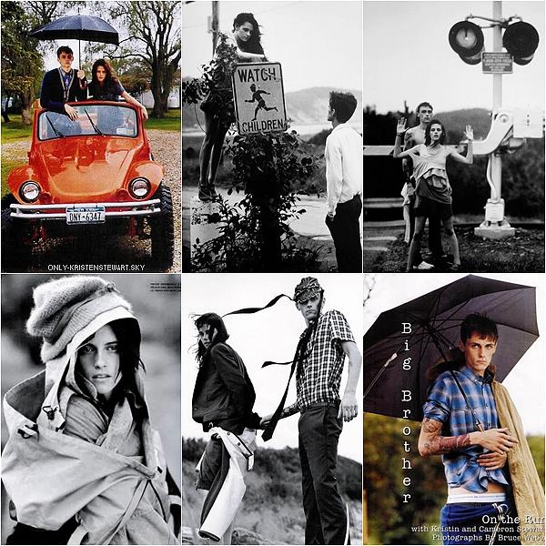 Flashback photoshoot de Kristen et son frère Cameron Stewart pour Vogue Italia 2007 :