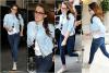 03.07.13 -  Kristen toute souriante revenait  à son hôtel, après avoir fait du shopping chez Channel :