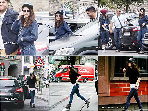 Nouvelles photos de Kristen à Berlin sur le tournage Sils Maria du 02 Septembre au 05 Septembre :