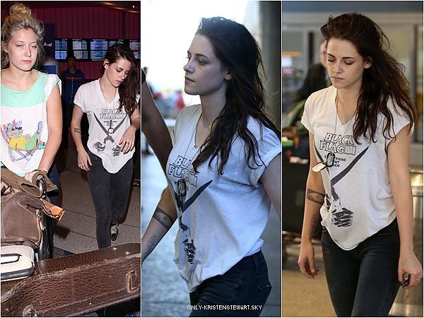 05.10.2013 - Kristen a terminer le tournage (Sils Maria), elle est de retour à Los Angeles avec Suzie :