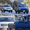 30.10.13 Kristen (voiture bleu) et Robert  (voiture blanche) ont été appercçue dans les rue de Beverly Hills : Apparemment ils auraient une nouvelle maison dans Beverly Hill, sur les photos Kristen est pas très contente, donc je poste simplement trois photos.