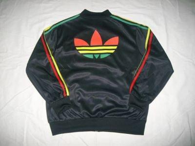 Ensemble Adidas Noir Et Vert-Jaune-Rouge.