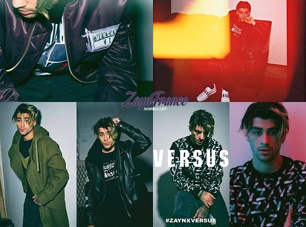 . Voici quelques photos de Zayn pour sa collection ZAYNXVERSUS, sorti le 19 juin.