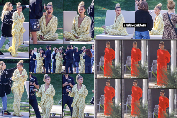 - '-•-17/05/19-' - Hailey B. a été photographiée sur le set d'un photoshoot pour « BareMinerals » à Beverly Hills. La mannequin américaine est le visage de la marque de cosmétiques minéraux « BareMinerals » depuis 2018. Les clichés sortiront donc prochainement ! -