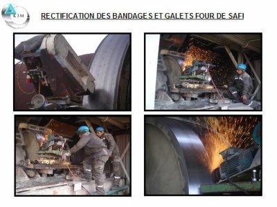 Nos machines en action sur le four de Safi (Ciment du Maroc)