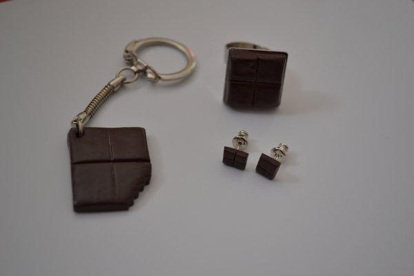 Parure carré de chocolat