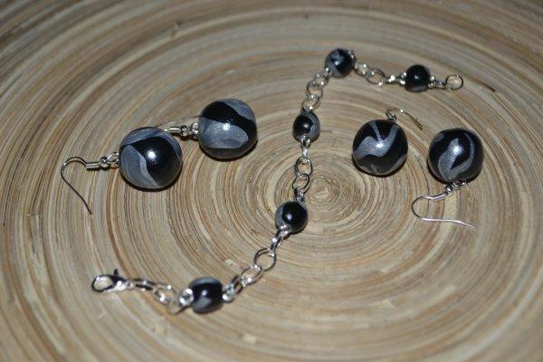 B.O boule bi-color 2 tailles avec bracelet