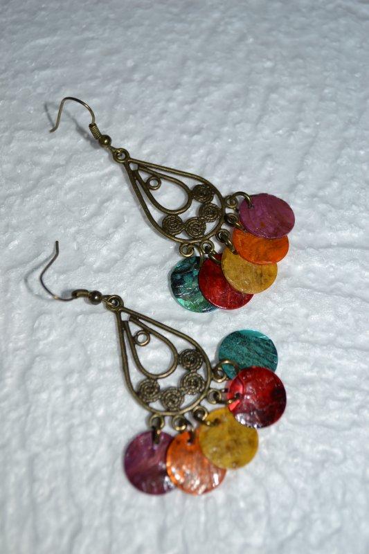 B.O perles nacres plates (plusieurs couleurs)