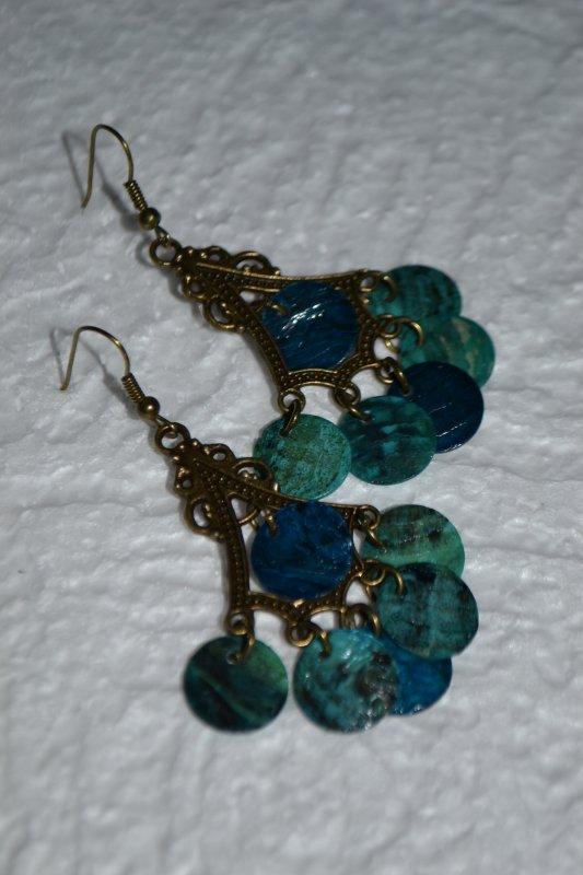 B.O bronze perles nacres