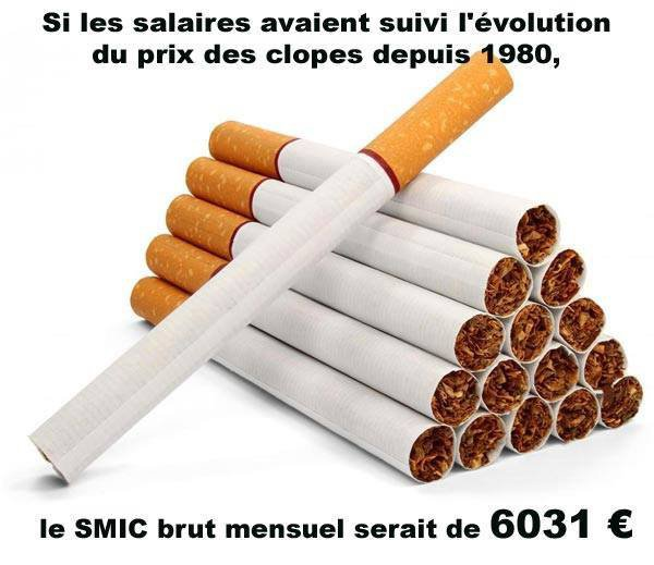 comme tout les ans, l'année commence par une petite augmentation du tabac...