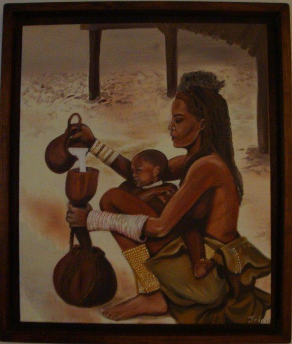 Mère Kimba et son bébé dans le Kaoland