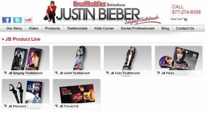 Justin Bieber ... Nouvelle égérie des dentistes