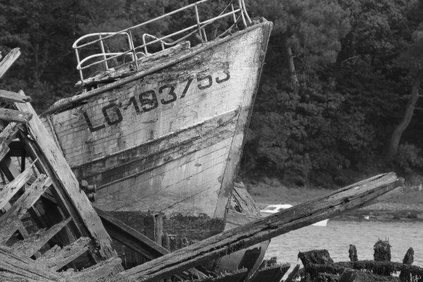 Cimetière des bateaux: encore plus beau en noir et blanc!