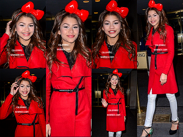 . 20 Decembre : Zendaya quittant les studios de The Today Show , New York City. .