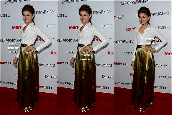 . 27 Septembre ; Zendaya était présente au« Teen Vogue Young Hollywood Party » à Los Angeles. Top ou flop..?  .
