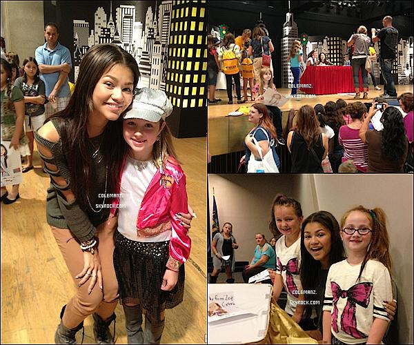 """. 8 Septembre : Zendaya était présente lors de l'événement """"Back to school"""" , New York ."""