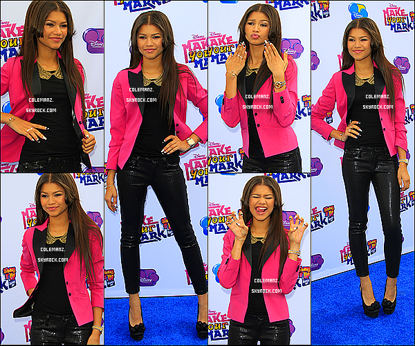 ". 6 octobre :Zendaya & Bella au ""Make Your Mark :Shake It Up Dance off 2012""  à Los Angeles. ."