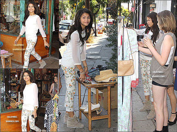 . 12 octobre ; Zendaya et ses amies faisant du shopping , Los Angeles Top ou flop? .