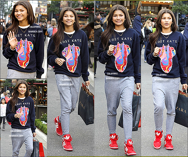 . 10 Novembre ; Zendaya faisant du shopping à Los Angeles. Top ou flop? .